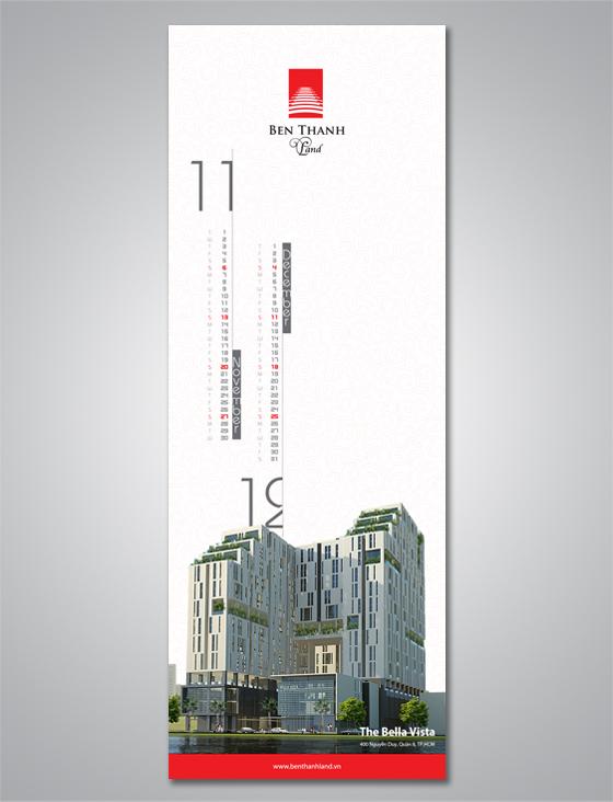 thiết kế lịch