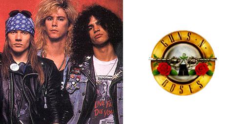 thiết kế logo Gunsn Roses