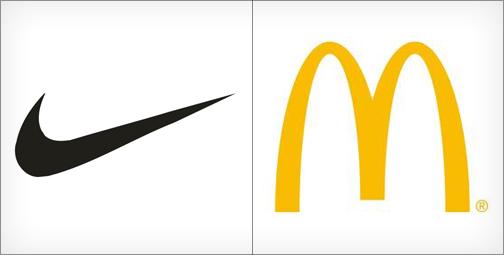 thiết kế logo Nike và McDonald
