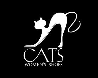 thiết kế logo con mèo