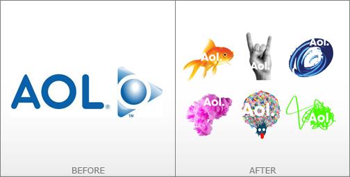 thiết kế logo aol