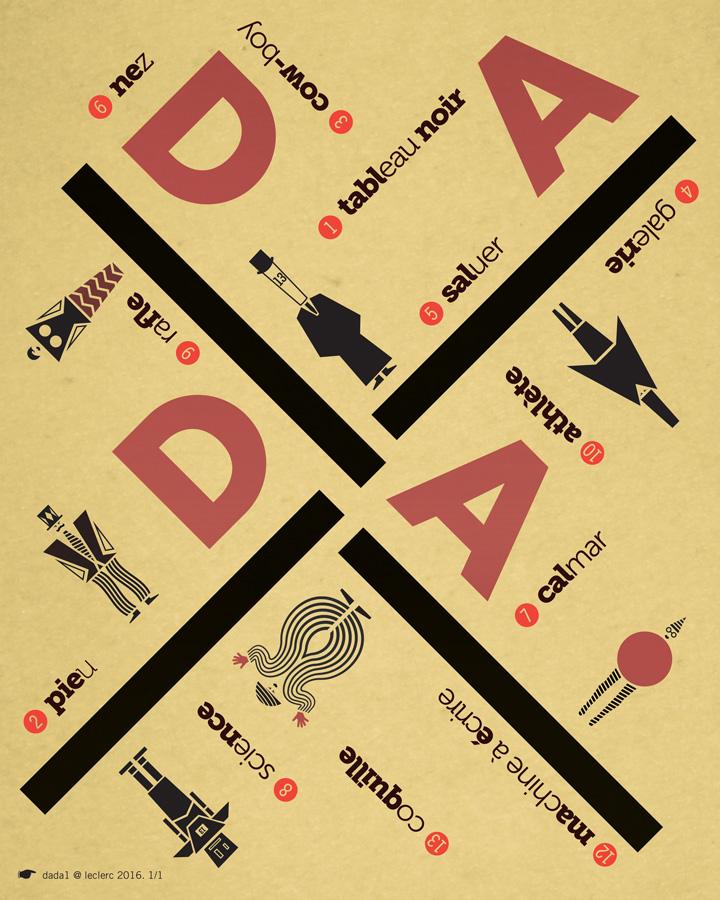 Thiết kế logo phong cách Dada