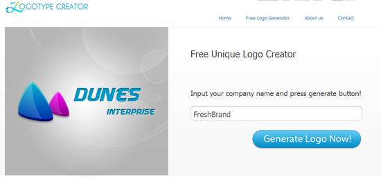 thiet ke logo mien phi voi logotypecreator
