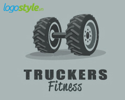thiet ke logo 3d dep truckers fitness