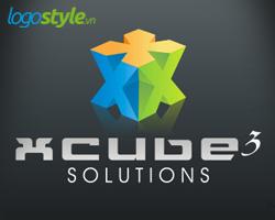 thiet ke logo 3d dep xcude solutions