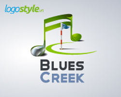 thiet ke logo 3d blues Creek