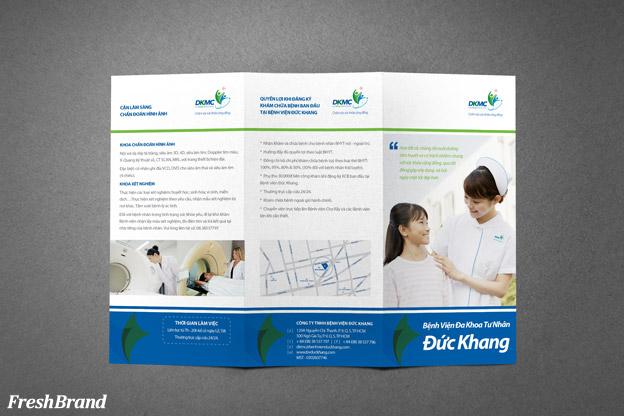 thiet ke brochure benh vien duc khang 3