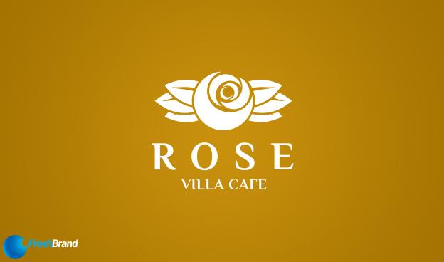 thiet ke logo thuong hieu cafe rose villa