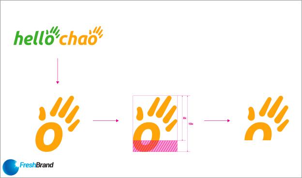 thiet ke logo nhan dien thuong hieu hello chao