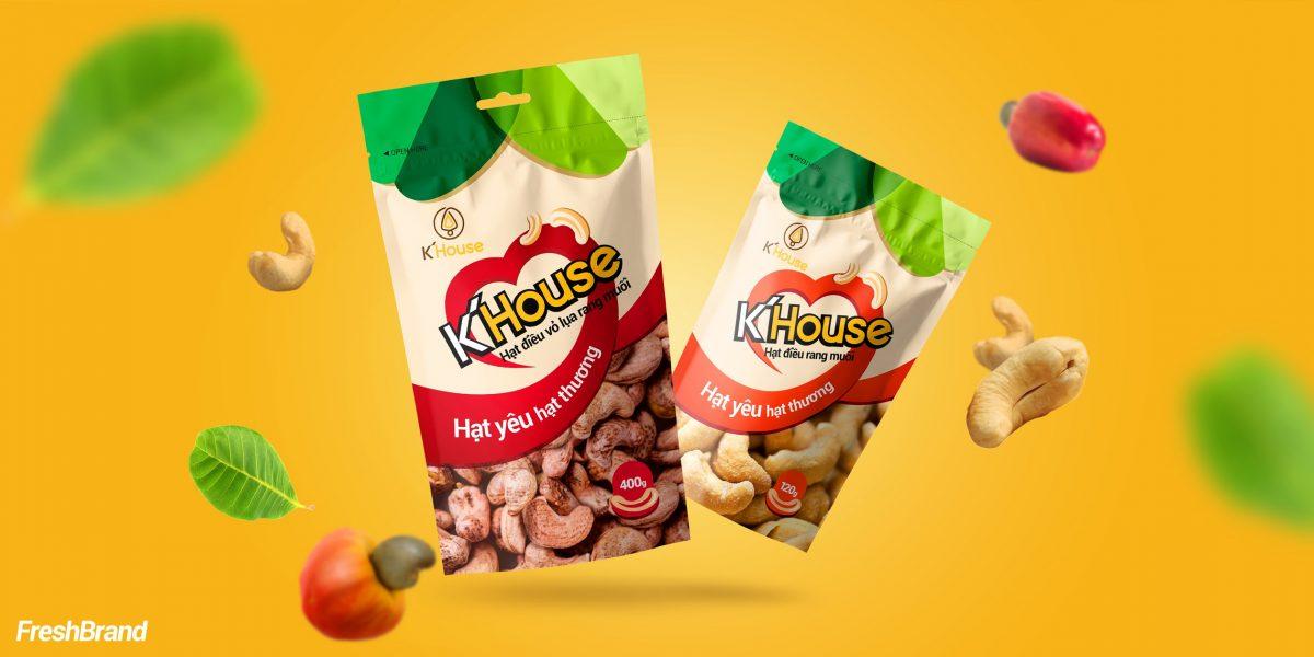 thiết kế bao bì hạt điều k'house_freshbrand.vn