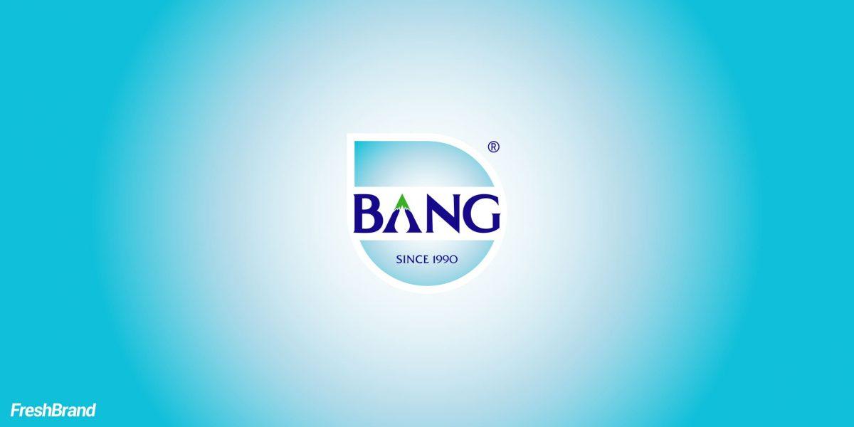 thiết kế logo thương hiệu Bang water