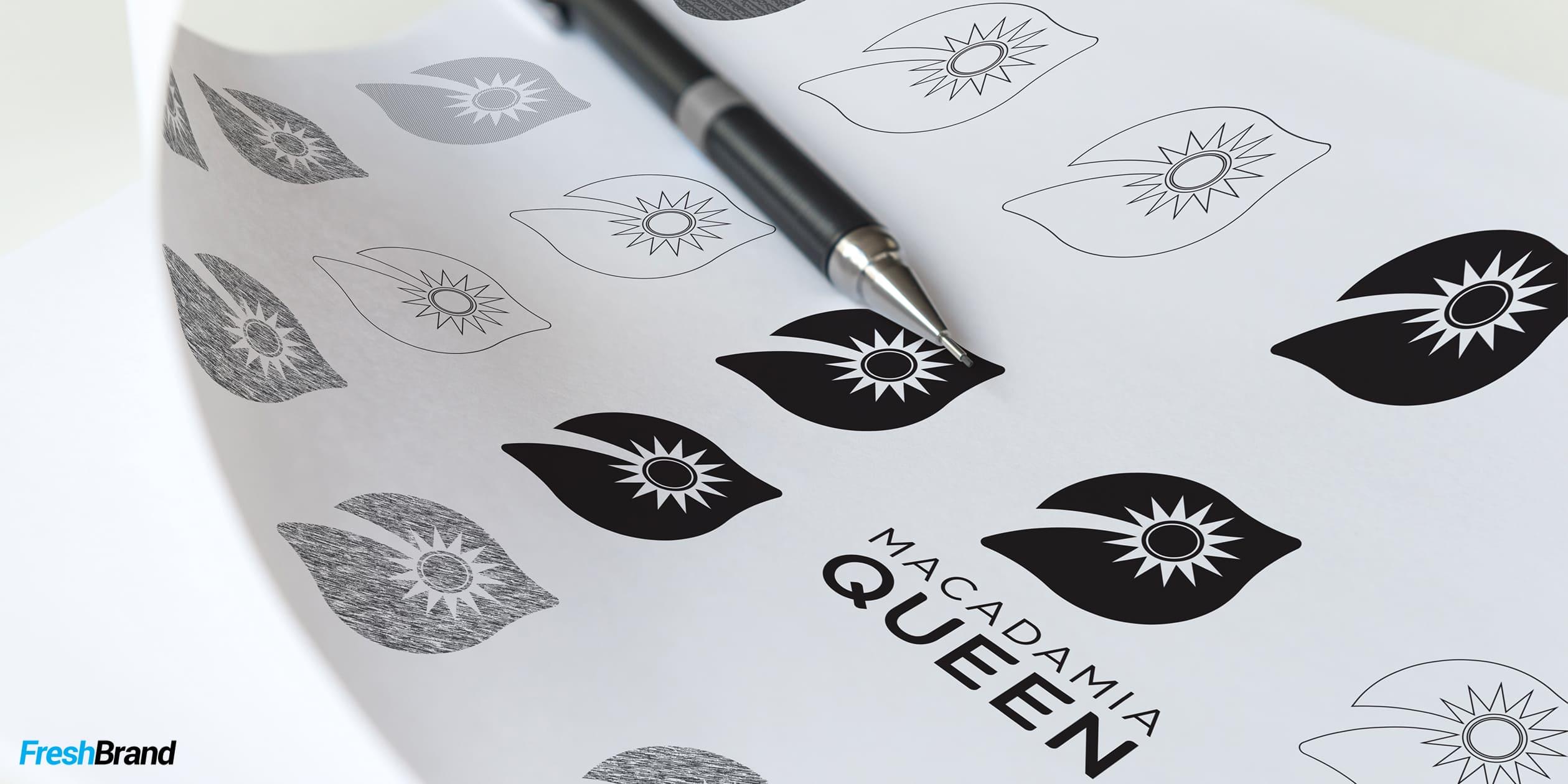 Thiết kế logo Macadamia Queen