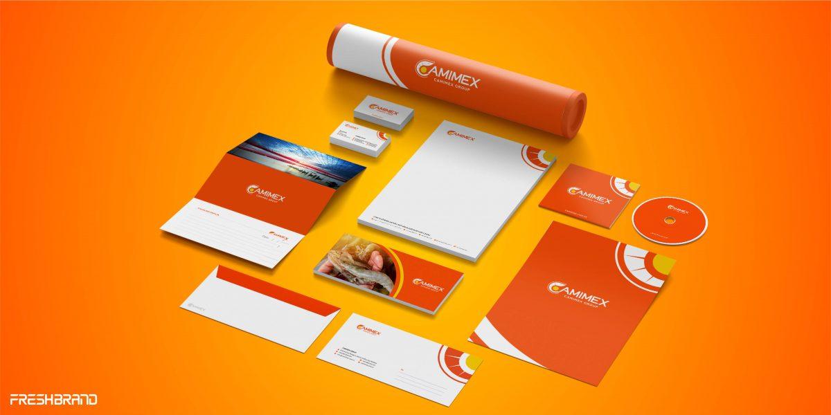 thiết kế nhận diện thương hiệu camimex