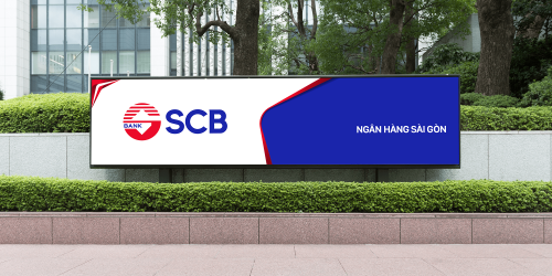 Thiet ke logo, nhan dang thuong hieu ngan hang Sai Gon - SCB bank
